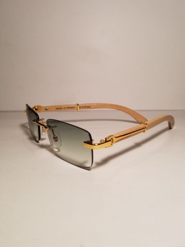 0f9b5b625700 Cartier C Decor Rimless Olive Wood Gold Glasses Wood for Sale in ...
