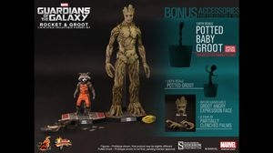 Rocket and Groot Sixth Scale Figure by Hot Toys Guardians of the Galaxy - Movie Masterpiece Series for Sale in San Bernardino, CA