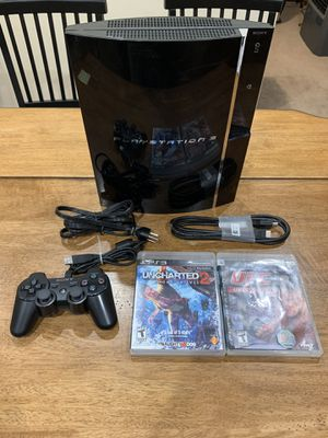 Sony PlayStation PS3 CECHA01 Fat 60GB PS1/PS2 Backwards Compatible w/ 2 Games for Sale in Newark, CA