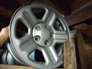 16 inch steel jeep wheels 5 on 5 lugs for Sale in Commerce, CA