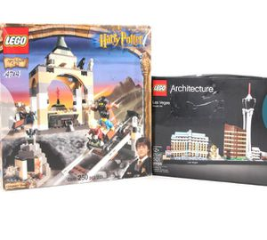 Lego sets!! Harry Potter Gringots bank 4714 & Lego Architecture Las Vegas 21047 Complete. Figs, Instructions, Parts and stickers in great condition. for Sale in Fairfield, OH