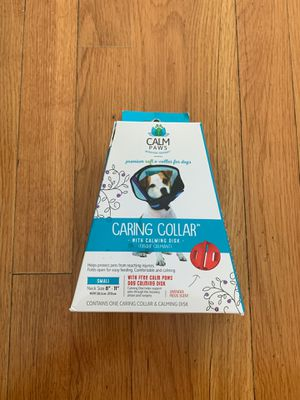 Calm paws behavior support caring dog collar with calming gel patch for Sale in Fairfax, VA