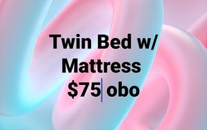 Twin Bed w/ Mattress $75 for Sale in Hesperia, CA