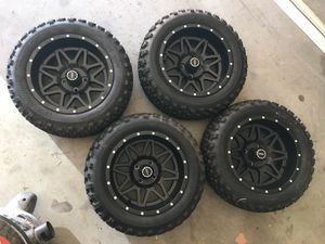 ROC Rims and Tires for golf cart, club car for Sale in Cypress, TX