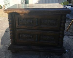 Antique Art Deco Style 1930's Oak Wood Night Stand W/Drawers for Sale in San Diego, CA