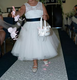Brand new Flower Girl Lace Tulle Dress and Satin Shoes for Sale in Woodbridge, VA
