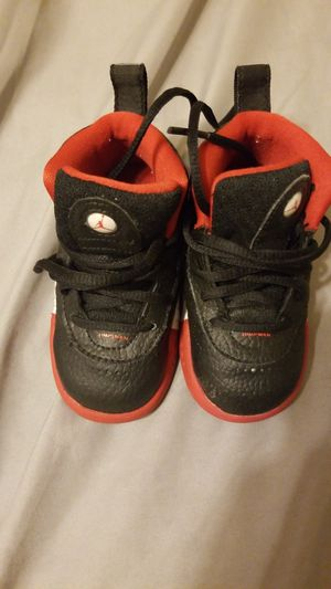 Baby Jordans red white and black for Sale in Dallas, TX