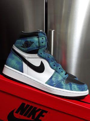 Nike air jordan 1 retro high OG tye dye size 9.5 mens DS for Sale in Fort Lauderdale, FL