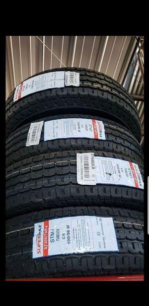 205 75 14 $190 trailer tires 6ply for Sale in Phoenix, AZ