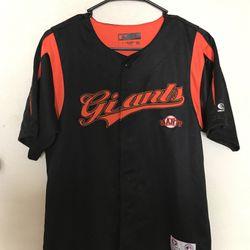San Francisco Giants baseball jersey true fan series major league baseball genuine merchandise size large button front baseball jersey for Sale in Bakersfield,  CA