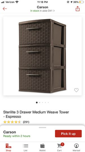 Plastic Storage Drawer for Sale in Wilmington, CA