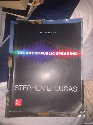 The art of public speaking by Stephen E. Lucas for Sale in Fontana, CA