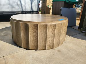 Large, round wooden coffee table for Sale in Fresno, CA