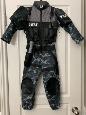 Kids SWAT POLICE COSTUME SIZE 5-6 for Sale in Long Beach, CA