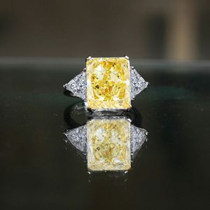 10CT intensely Radiant Intense Canary Center Classic Style Settings Sterling Silver Ring-635R71337CR for Sale in San Francisco, CA