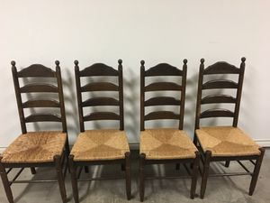 Antique Ladderback Chairs - set of 4 for Sale in Dallas, TX