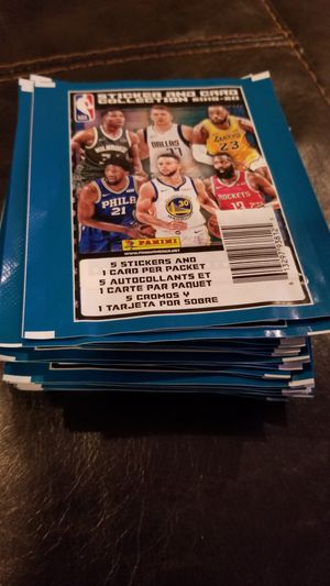Nba sticker and card packs 2020 zion williamson brand nee sealed for Sale in Hanover Park, IL