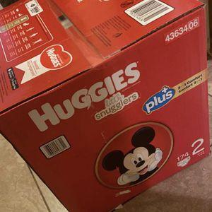 size 2 diaper huggies for Sale in Las Vegas, NV