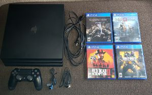 Playstation 4 Pro 1TB + 4 games for Sale in Lantana, TX