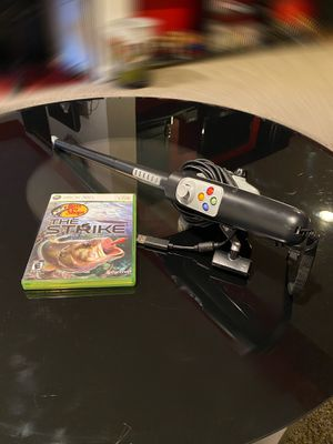 XBOX 360 Bass pro game and fishing pole controller for Sale in Laurel, MD