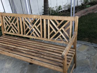 Outdoor Wooden Bench with Towel rack for Sale in Los Angeles,  CA