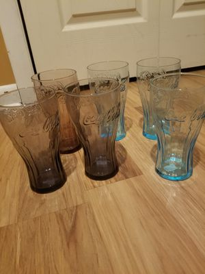 Coca Cola collectible glasses, set of 6 for Sale in Bardonia, NY