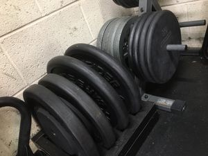 HEAVY Standard Weight Plates and 6 foot Standard Barbell for Sale in Arlington, VA