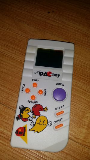 VINTAGE RARE SUPER PAC BOY HANDHELD Gameboy like PACMAN MS PACMAN GAME WOW !!!! for Sale, used for sale  Holmdel, NJ
