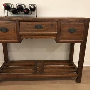 Beautiful Cedar Buffet / Storage Console Table Or Bar for Sale in Beverly Hills, CA