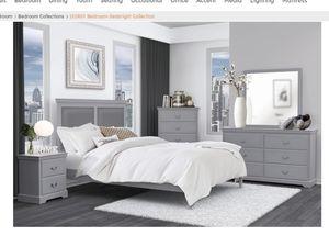 New Grey 4pc Queen bedroom set for Sale in Atlanta, GA