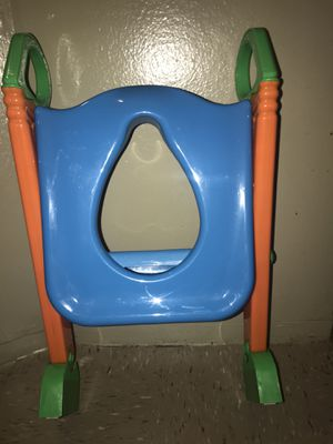 Potty Trainer Toilet Seat Chair Kids Toddler With Ladder Step Up for Sale in New York, NY