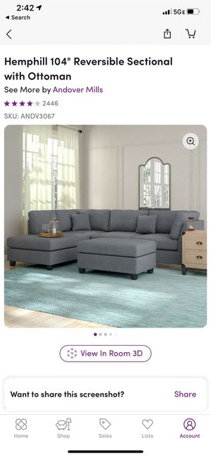 Sectional sofa with ottoman for Sale in New York, NY