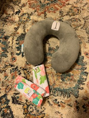 Baby neck cushion and car seat straps for Sale in Decatur, AL