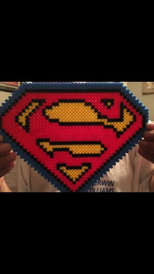 Superman logo in Perler beads for Sale in Lithia Springs, GA