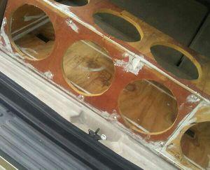 Speaker box custom built for 8 10inch subwoofers $80 obo for Sale in Orlando, FL