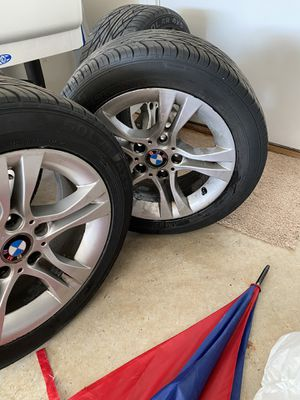 16 inch original bmw rims with tire in good shape. I have new rims which is why I'm selling these. Willing negotiate but don't low ball me for Sale in Sterling, VA