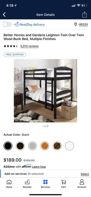 Bunk bed color black for Sale in Hammond, IN