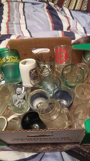Shot glass collection over 40 of them $30 for Sale in Renton, WA