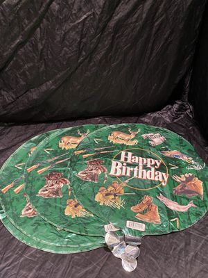 "4 Round HAPPY BIRTHDAY Hunter Hunting Party Balloon 18"" Round for Sale in Kissimmee, FL"