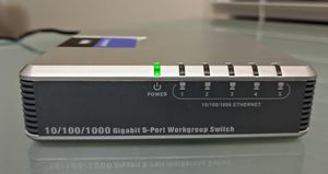 Linksys EG005W Version 3 Gigabit 5 Port Workgroup Ethernet Switch for Sale in Plano, TX