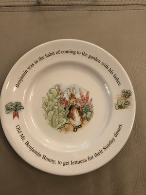Peter Rabbit Wedgwood plate for Sale in Pasadena, CA