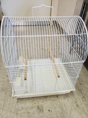 Bird cage with its water and food dispensers for Sale in Shadow Hills, CA