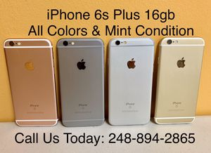 Sale: Unlocked iPhone 6s Plus 16gb Used All Colors Excellent Condition for Sale in Royal Oak, MI
