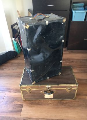 Steamer trunks and small trunk for Sale in Alexandria, VA