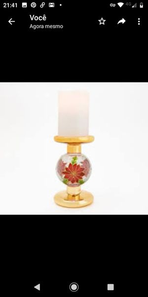 Lightscapes Flameless Candle with Crackle Sphere Candle Holder for Sale in Pompano Beach, FL