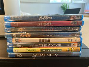 8 Brand new Blu Ray movies—still in package kept in cool, dark container for Sale in Pleasanton, CA