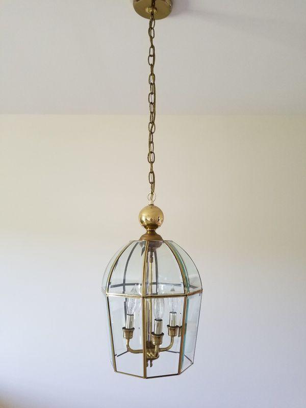 Beveled glass light fixture