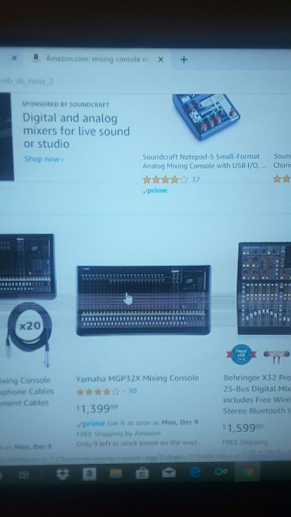 Yamaha mixing console mgp32x