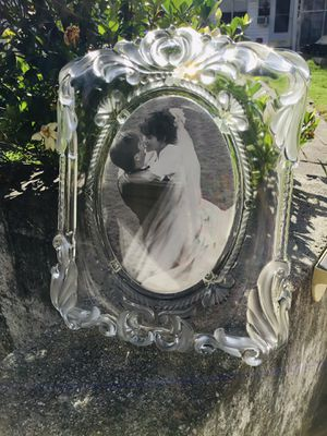Heavy GLASS PICTURE FRAME- WEDDING for Sale in Columbia, SC