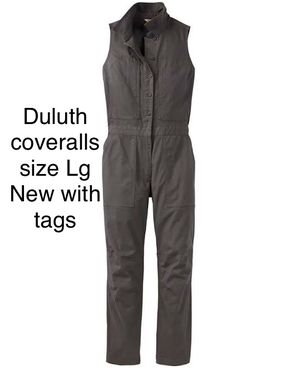 Duluth sleeveless coveralls in dark green size lg for Sale in Vancouver, WA